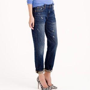 J.Crew Distressed Dark Wash Denim Jeans size 25